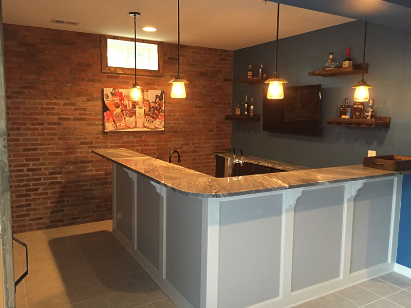 Basement Amp Wet Bar Gallery Lkc Construction Corp Lkc